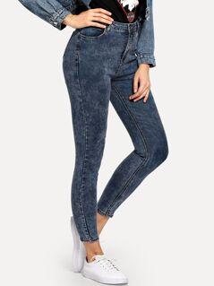 Zip Fly Pocket Skinny Jeans