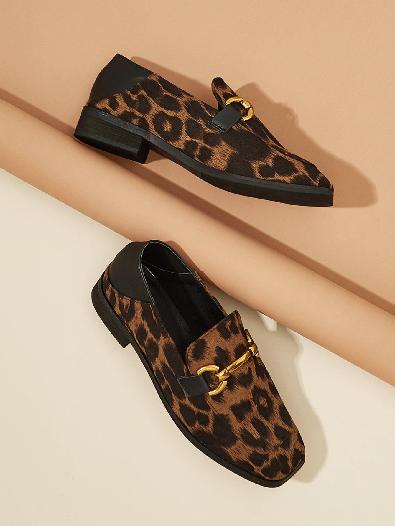 Купить Металлическая деталь леопардовый принт на квартирах, null, SheIn