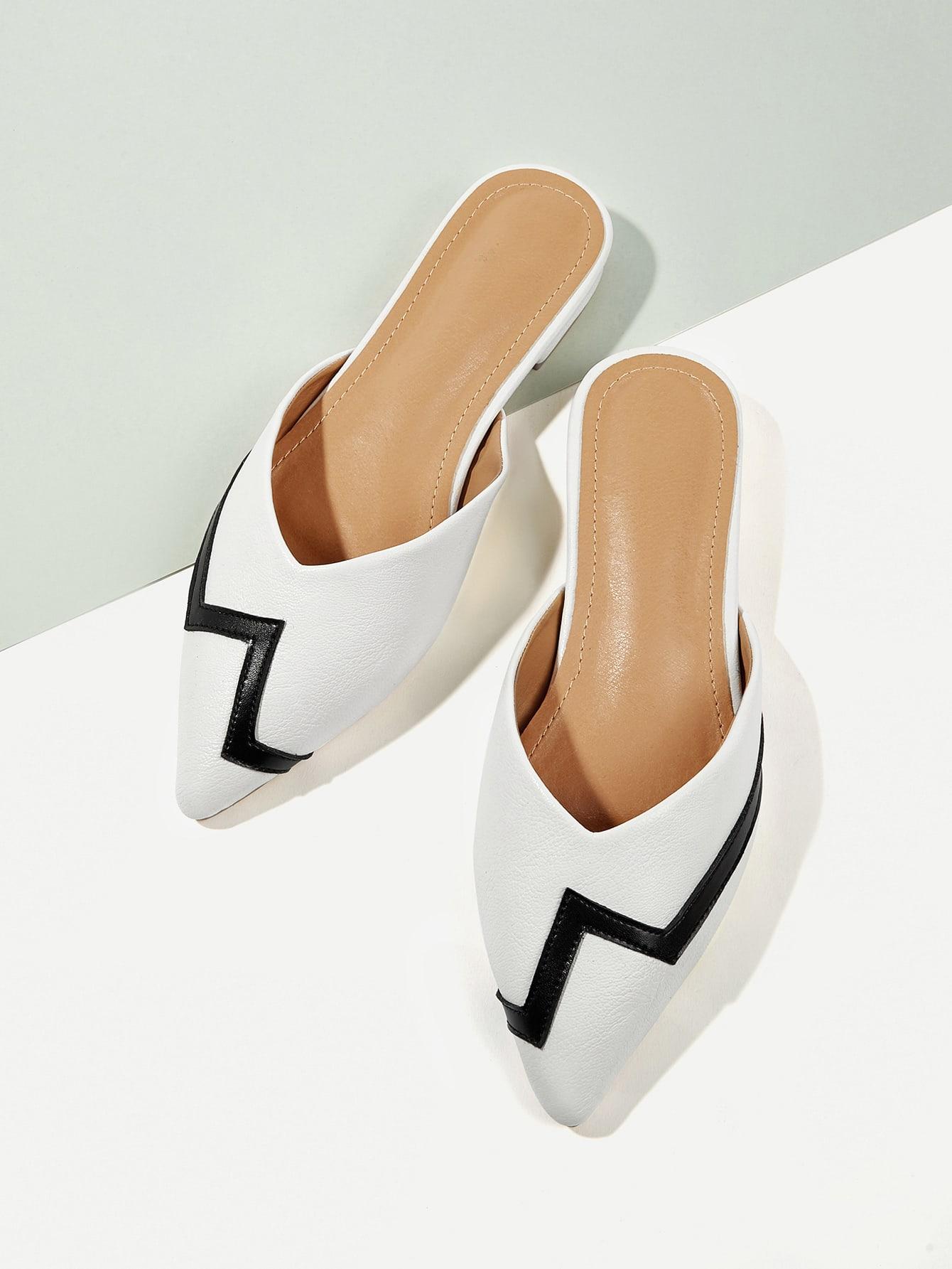 Купить Туфли на плоской подошве с открытым носким, null, SheIn
