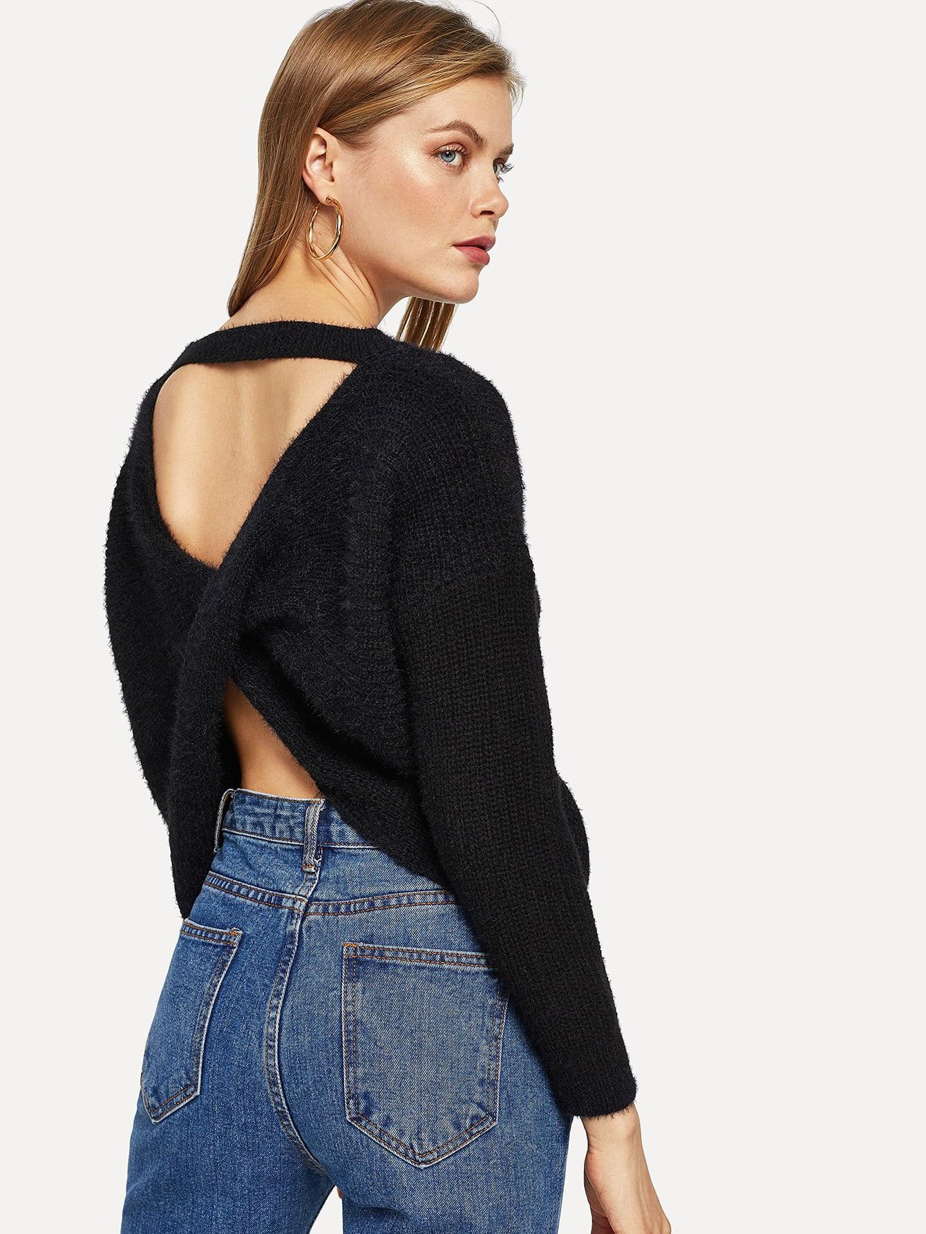 Купить Свитер с заниженной линией плеч, Kate C, SheIn