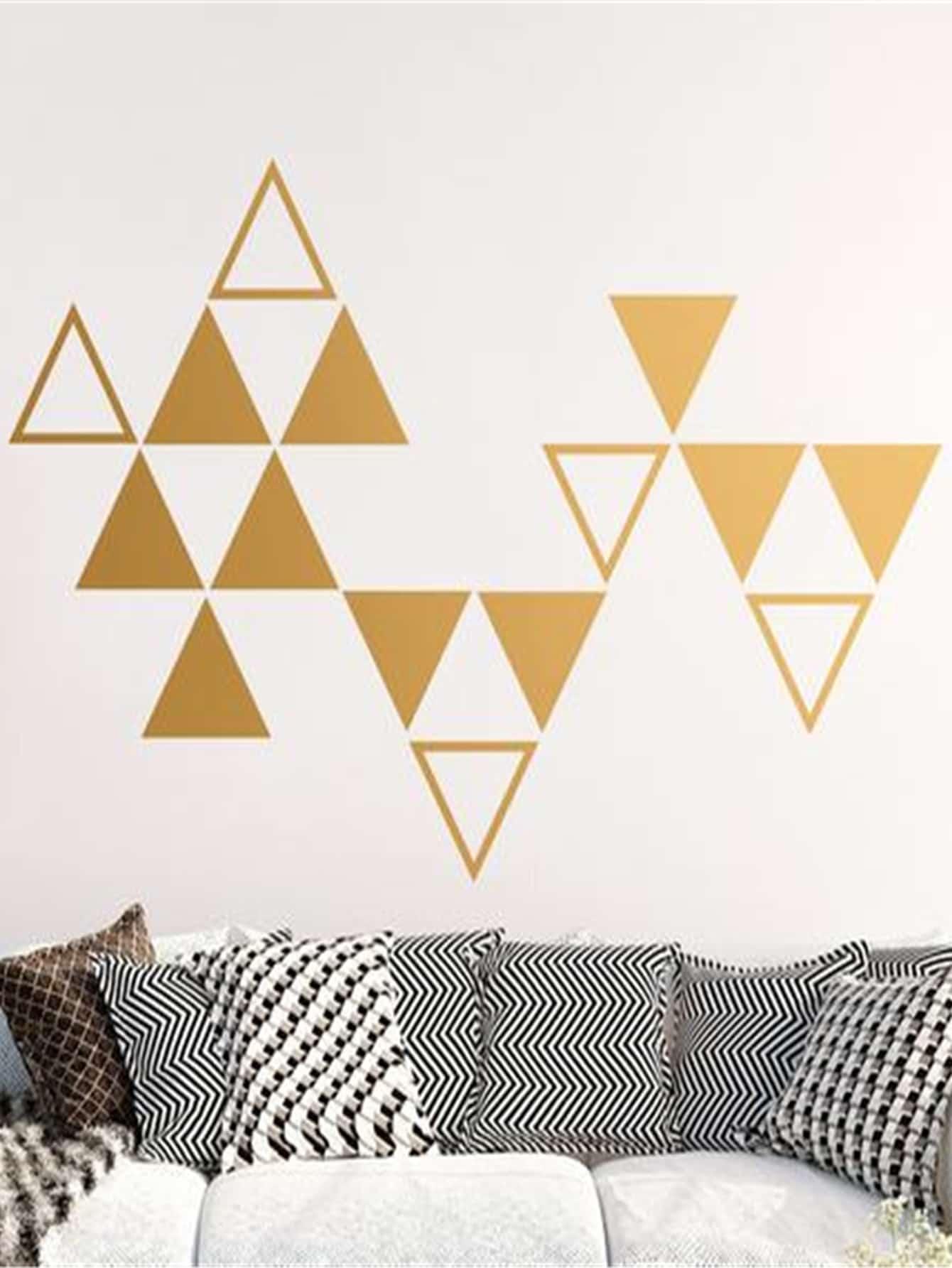 Купить Треугольные настенные наклейки 16 шт, null, SheIn