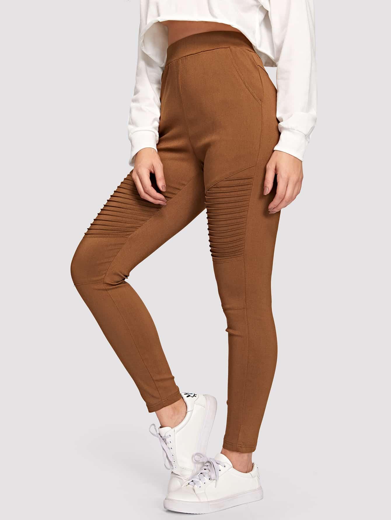 Купить Однотонные брюки с эластичной талией, DANI A, SheIn