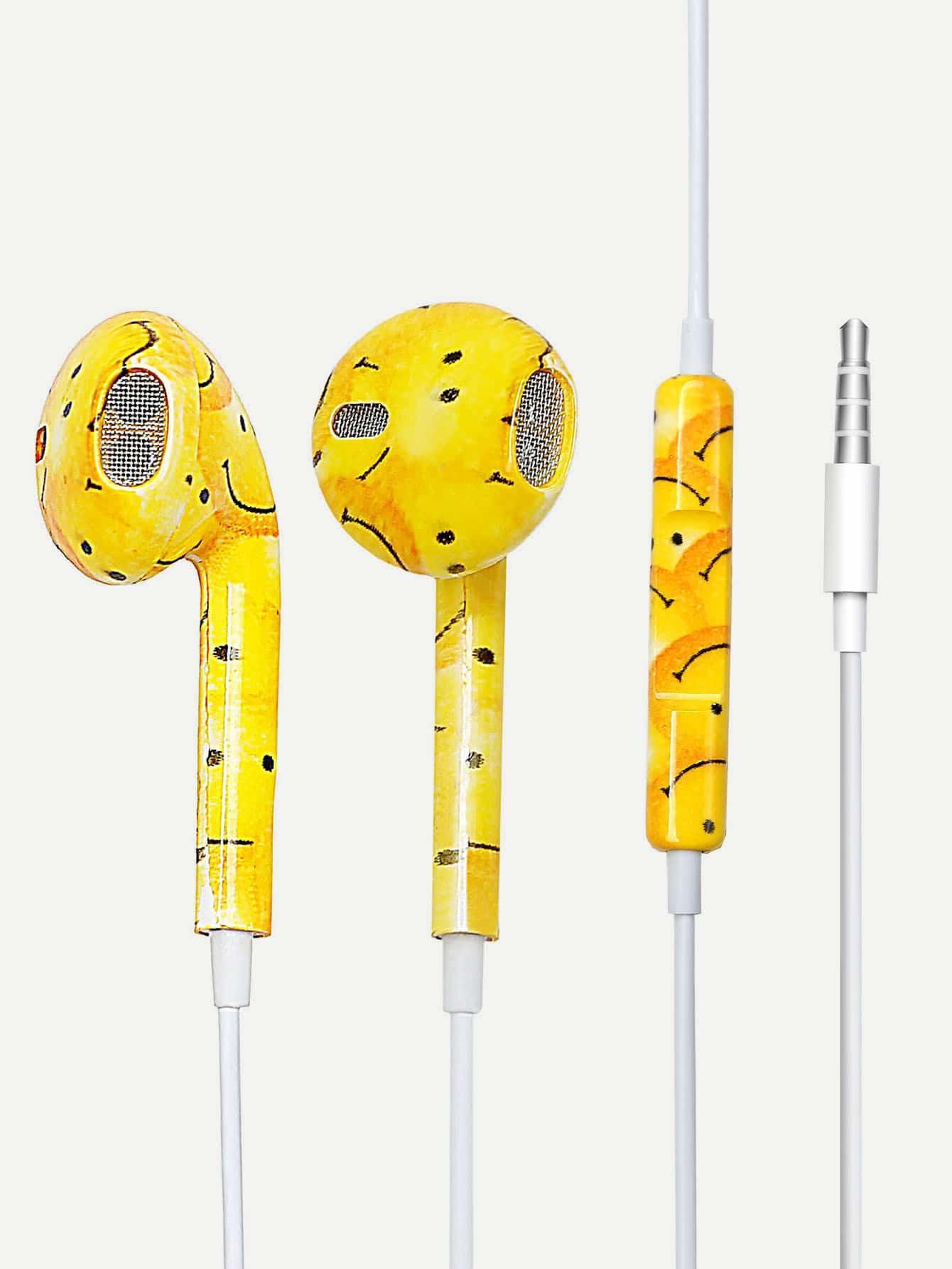 Купить Cartoon Print Ear Pods With Box, null, SheIn