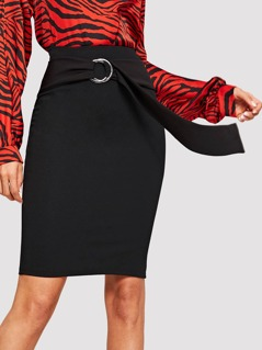 Slim Fitted Solid Skirt
