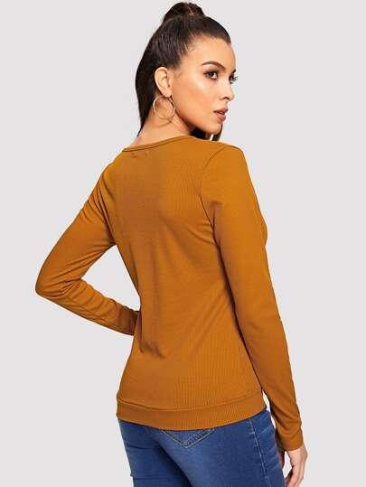 Блузка  Коричневый цвета