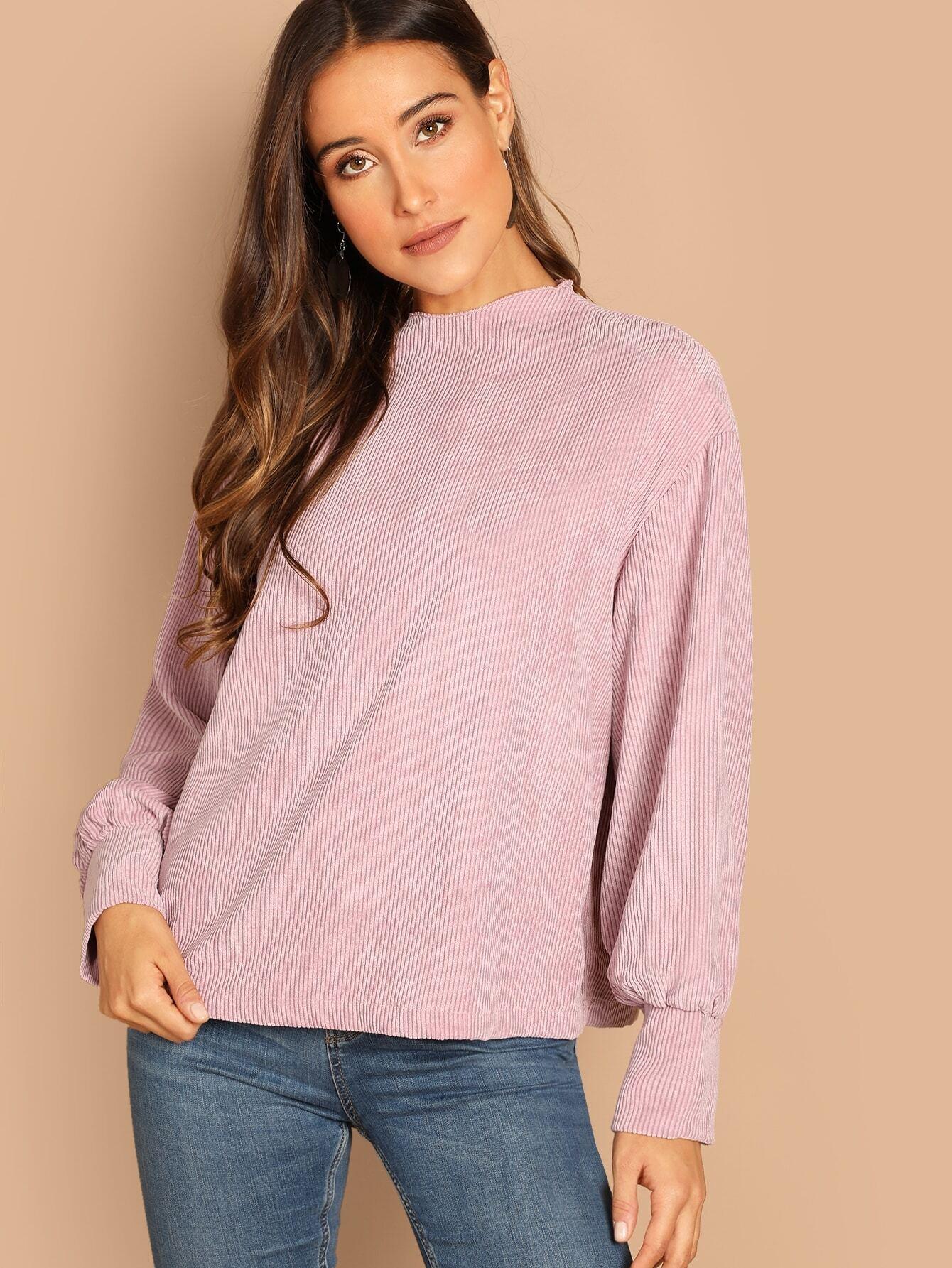 Купить Вельветовый пуловер на молнии сзади, Anna Herrin, SheIn