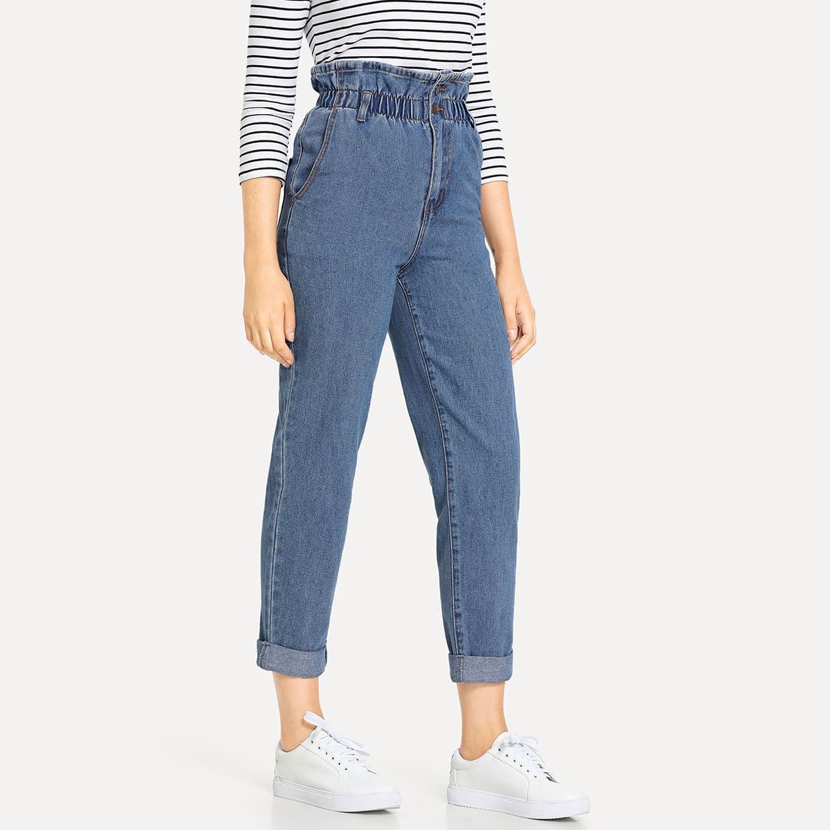 Blauw Casual Vlak jeans Zak