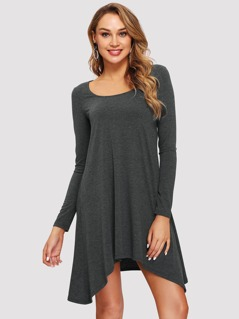 Hanky Hem Heather Knit Dress