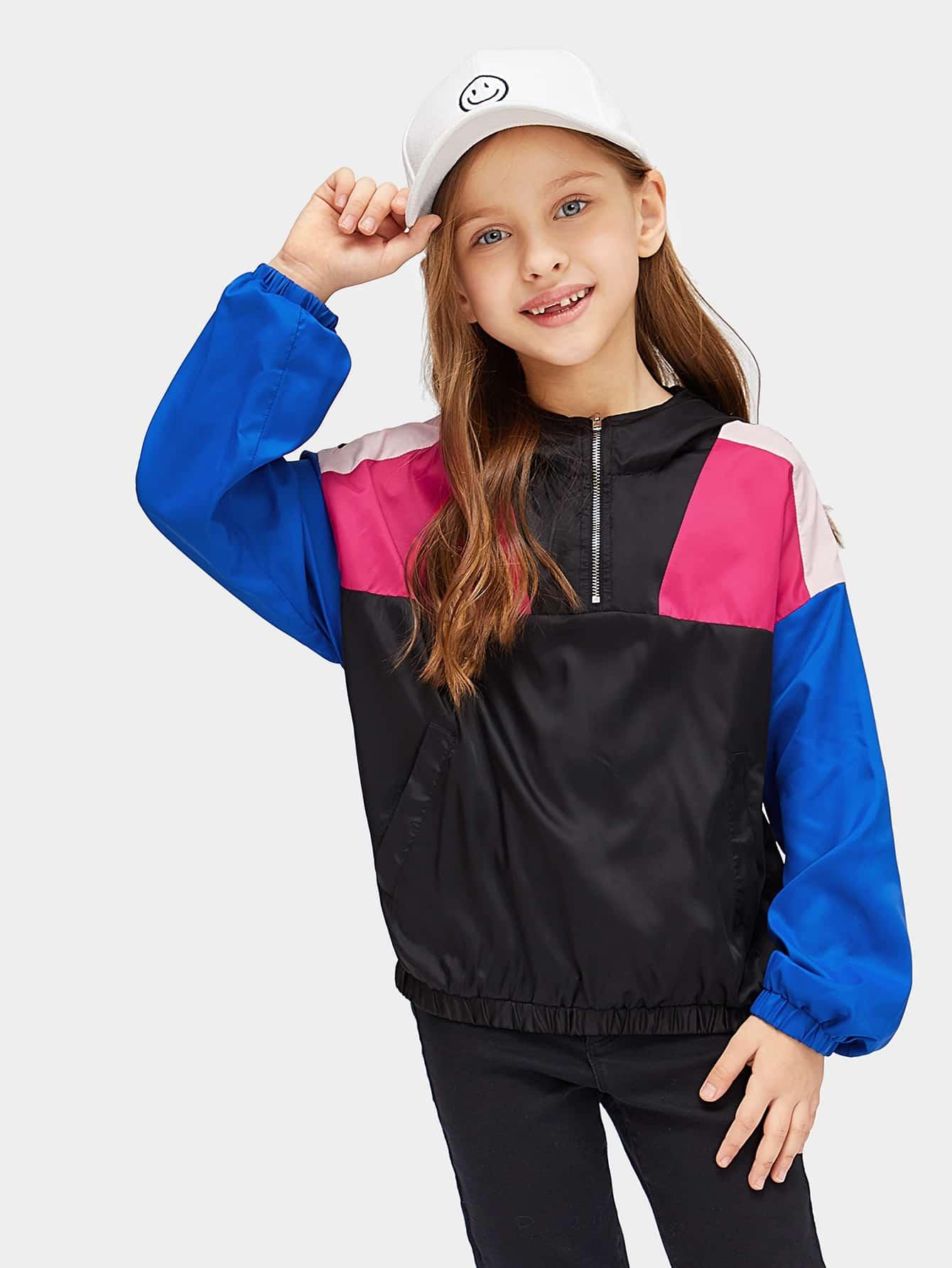 Купить Для девочек кроить и шить куртка с капюшоном, Anna C, SheIn