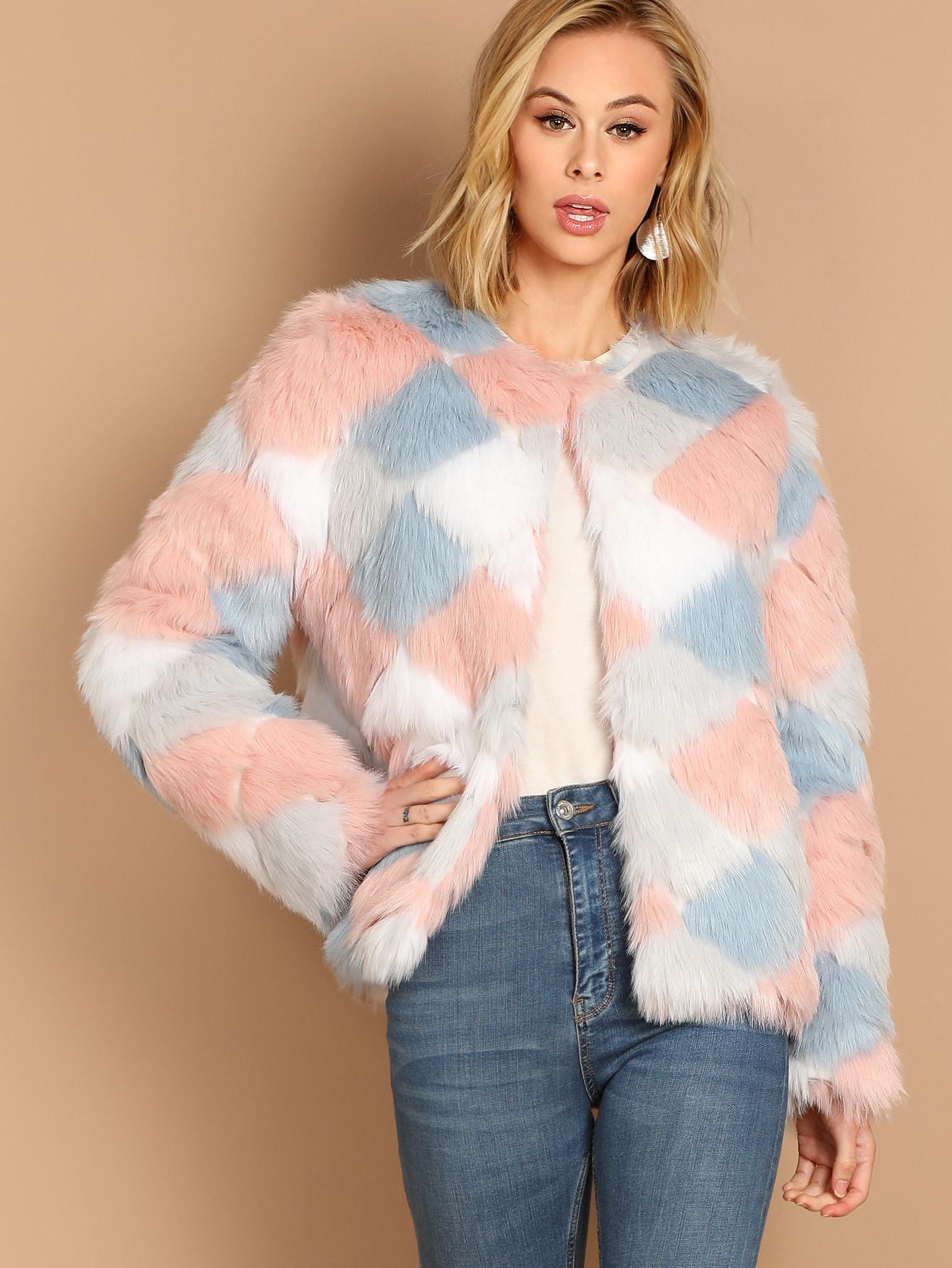 Купить Кроить и шить пальто из искусственного меха, Mattah Parker, SheIn