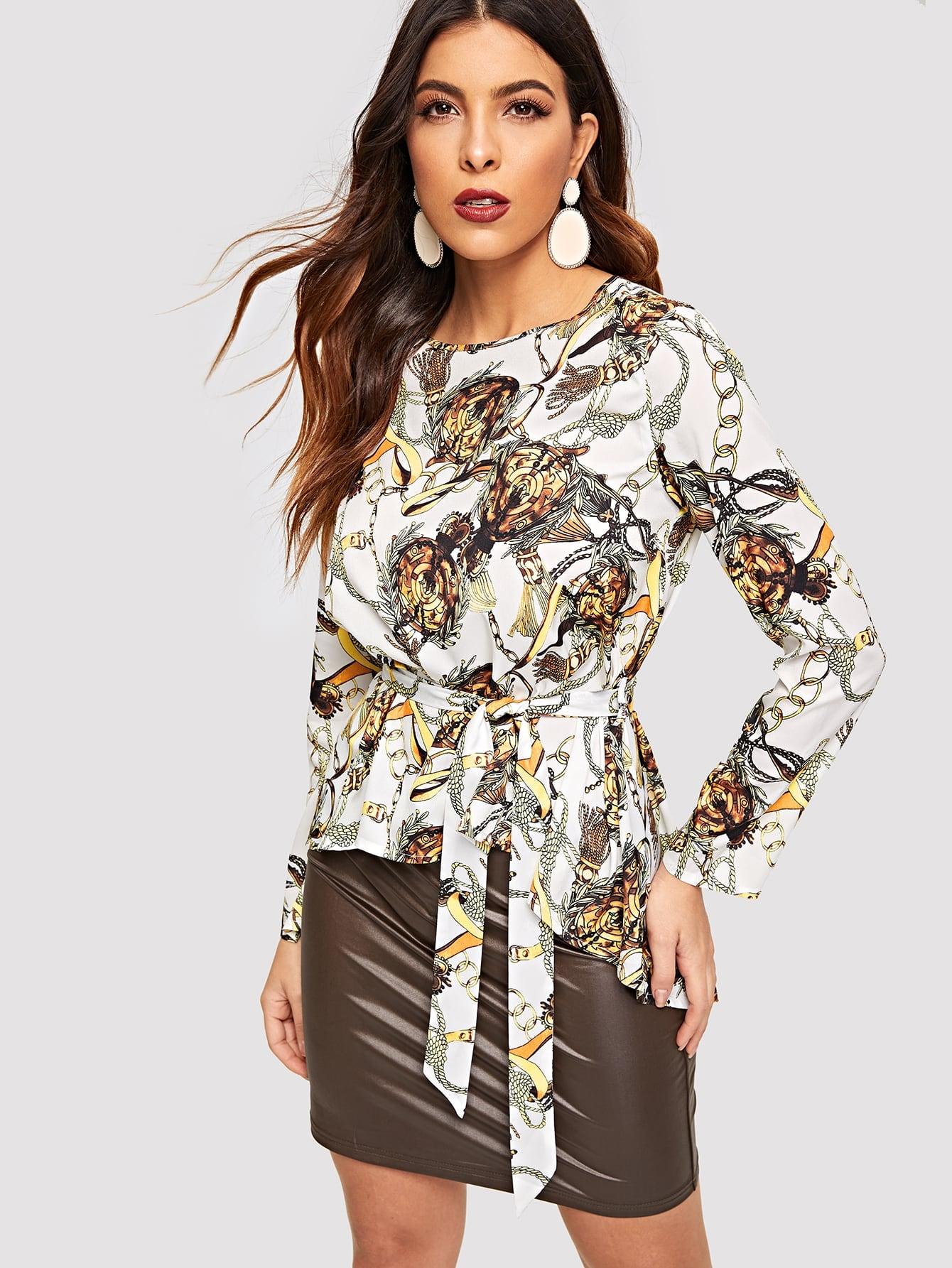 Купить Блузка с графическим принтом, DANI A, SheIn