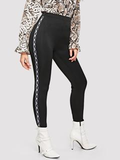 Snake Pattern Tape Side Pants