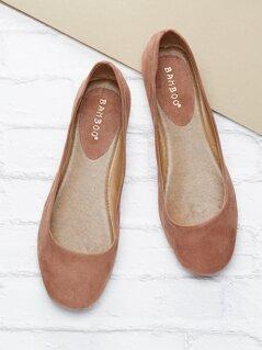 Slip On Square Toe Ballet Flats