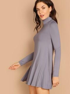 High Neck Flowy Dress