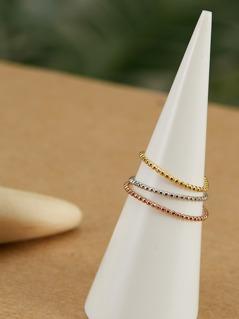 Open Adjustable 14k Gold Filled Trio Ring Set