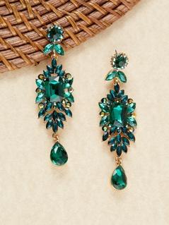Fancy Rhinestone Cluster Stud Back Earrings