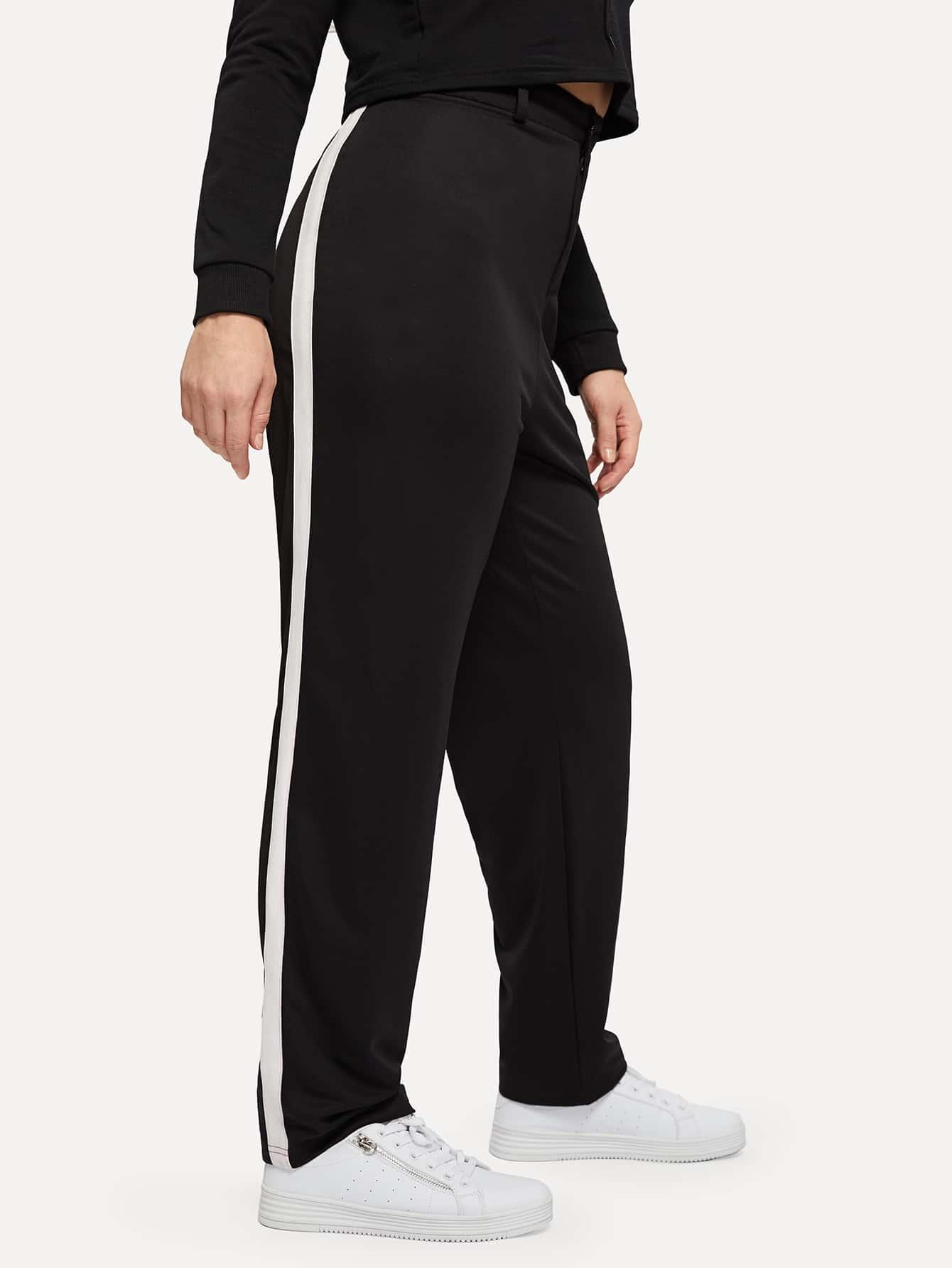 Купить Контрастные брюки размера плюс, Isabela, SheIn