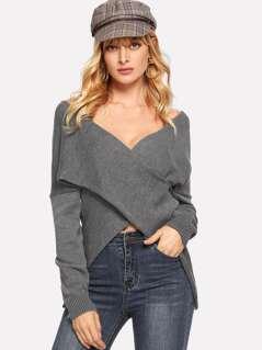V-neck Drop Shoulder Two Way Sweater