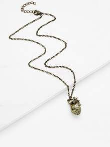 Irregular Shaped Pendant Necklace