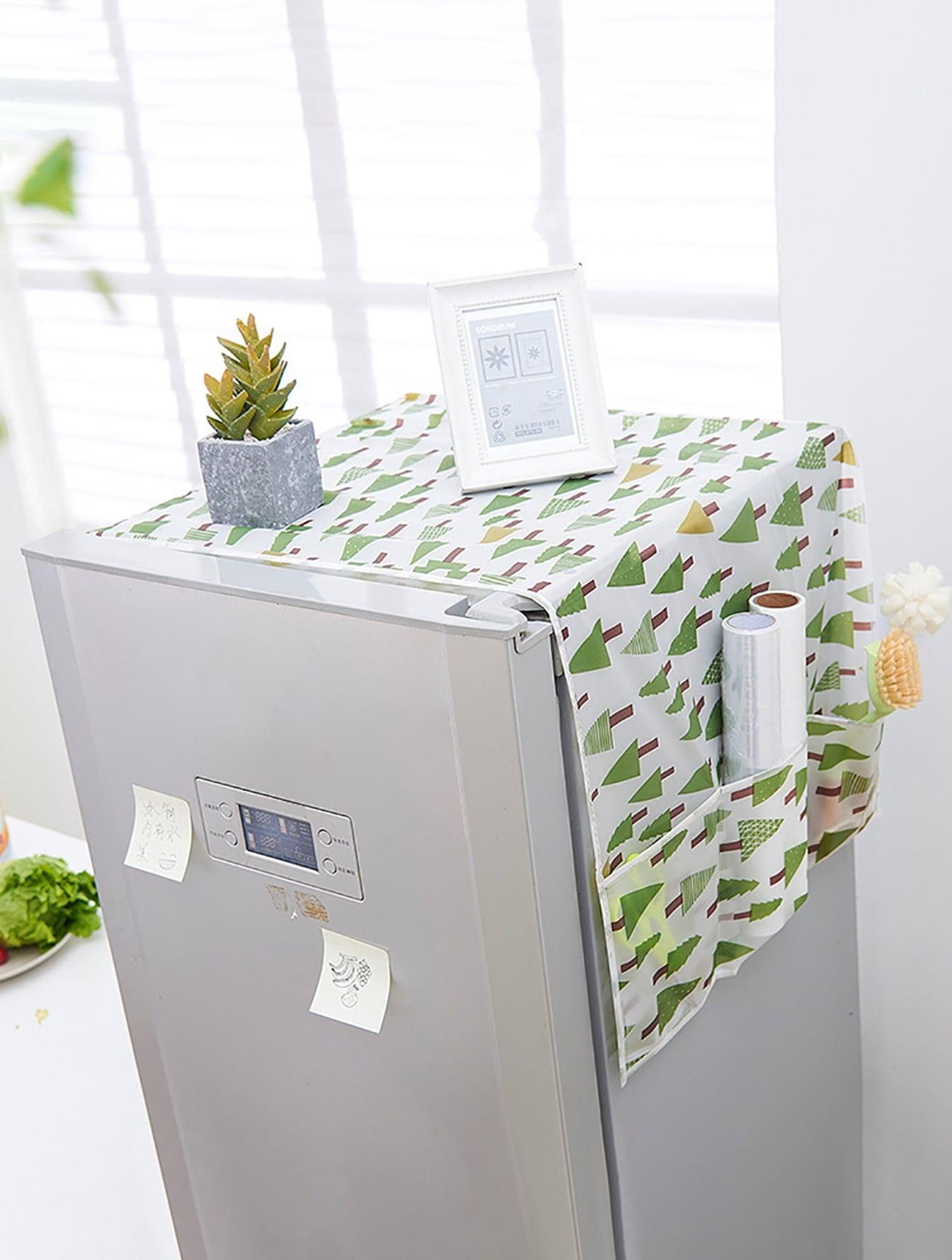 Купить Пылезащитный чехол для холодильника с принтом дерева, null, SheIn