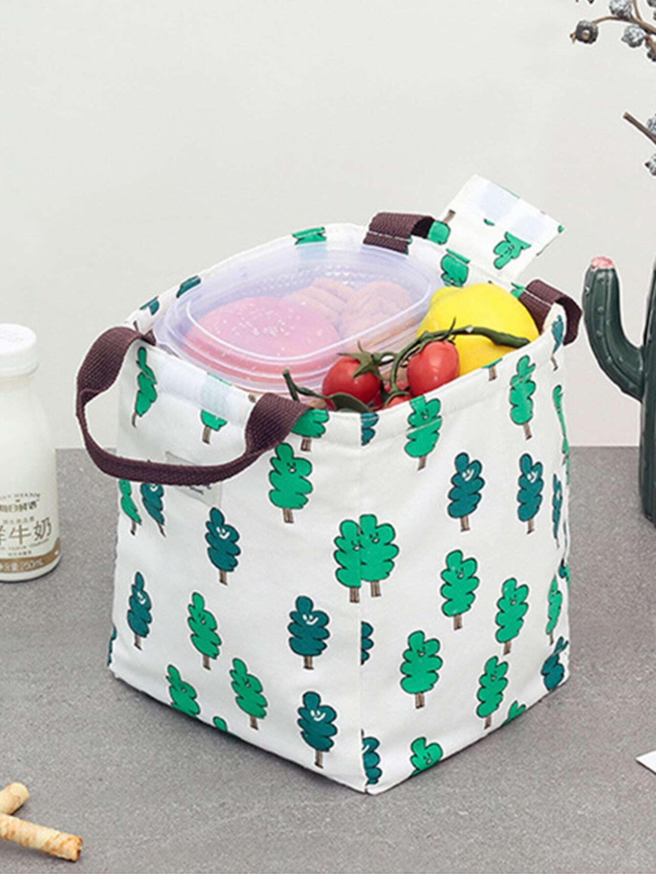 Купить Обеденная сумка для хранения с принтом дерева, null, SheIn