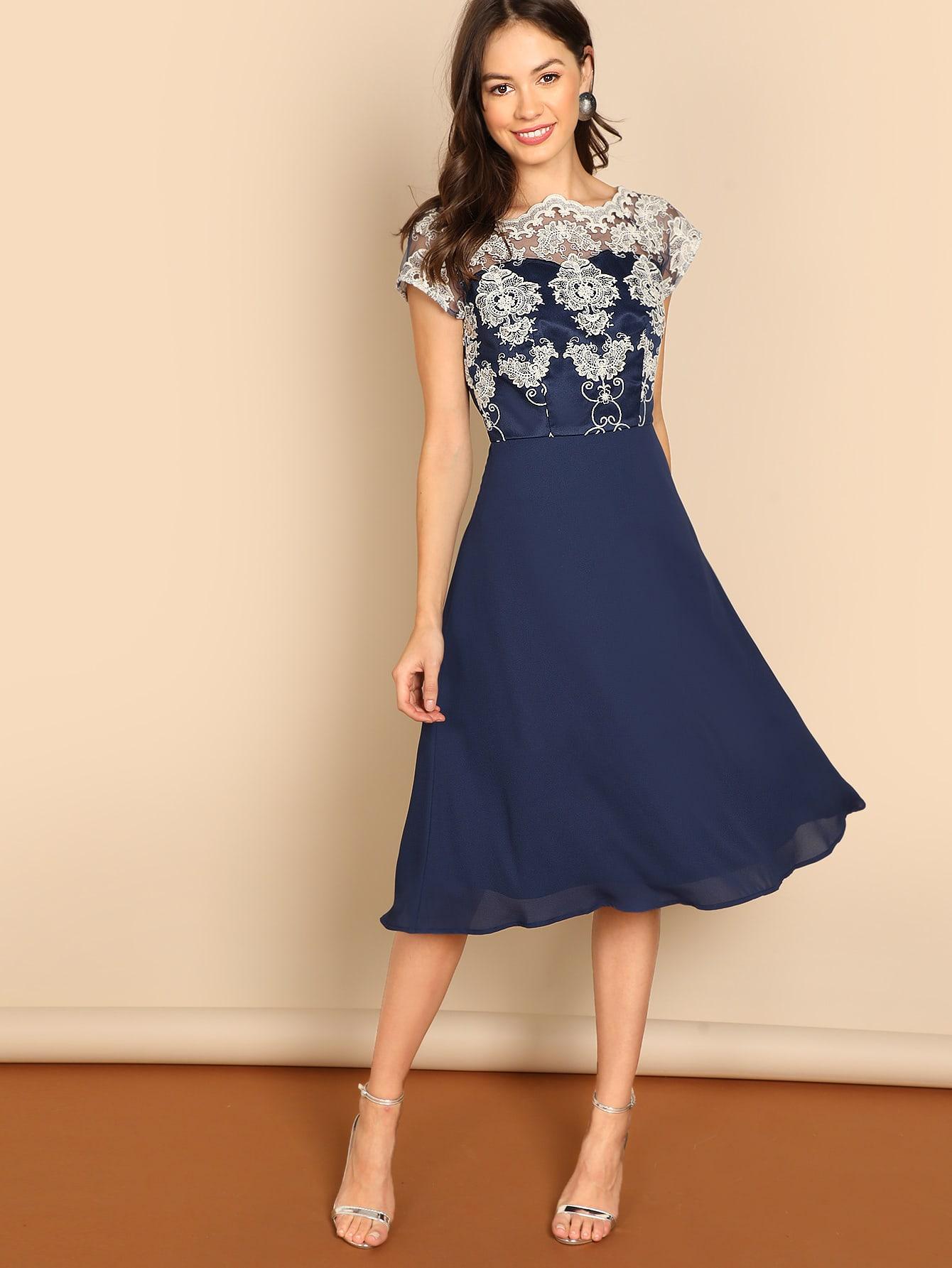 Купить Приталенное платье и топ со сеткой, Beate Muska, SheIn