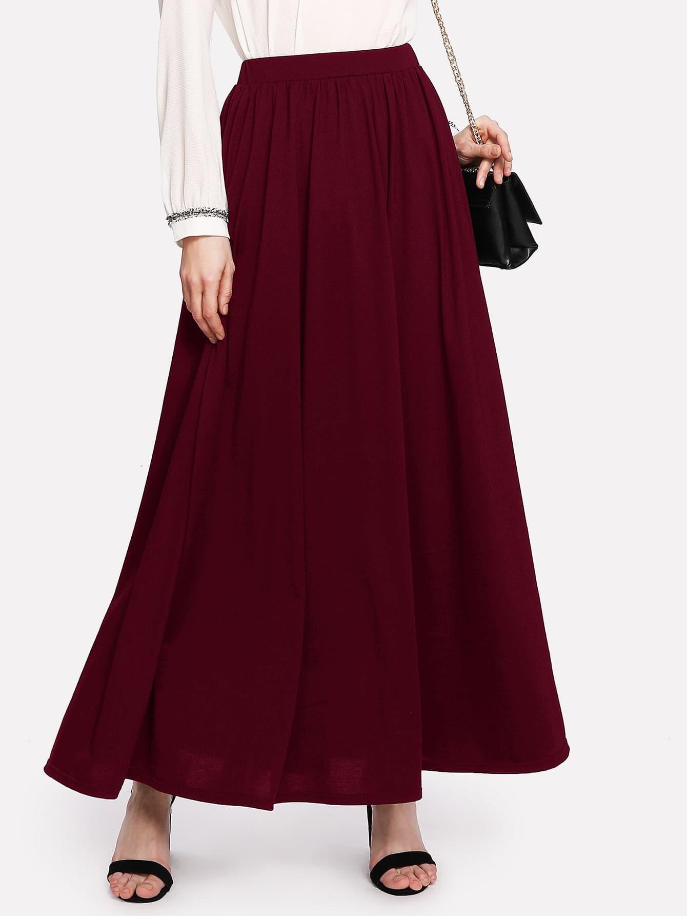 Купить Однотонная юбка, Ksenia G, SheIn