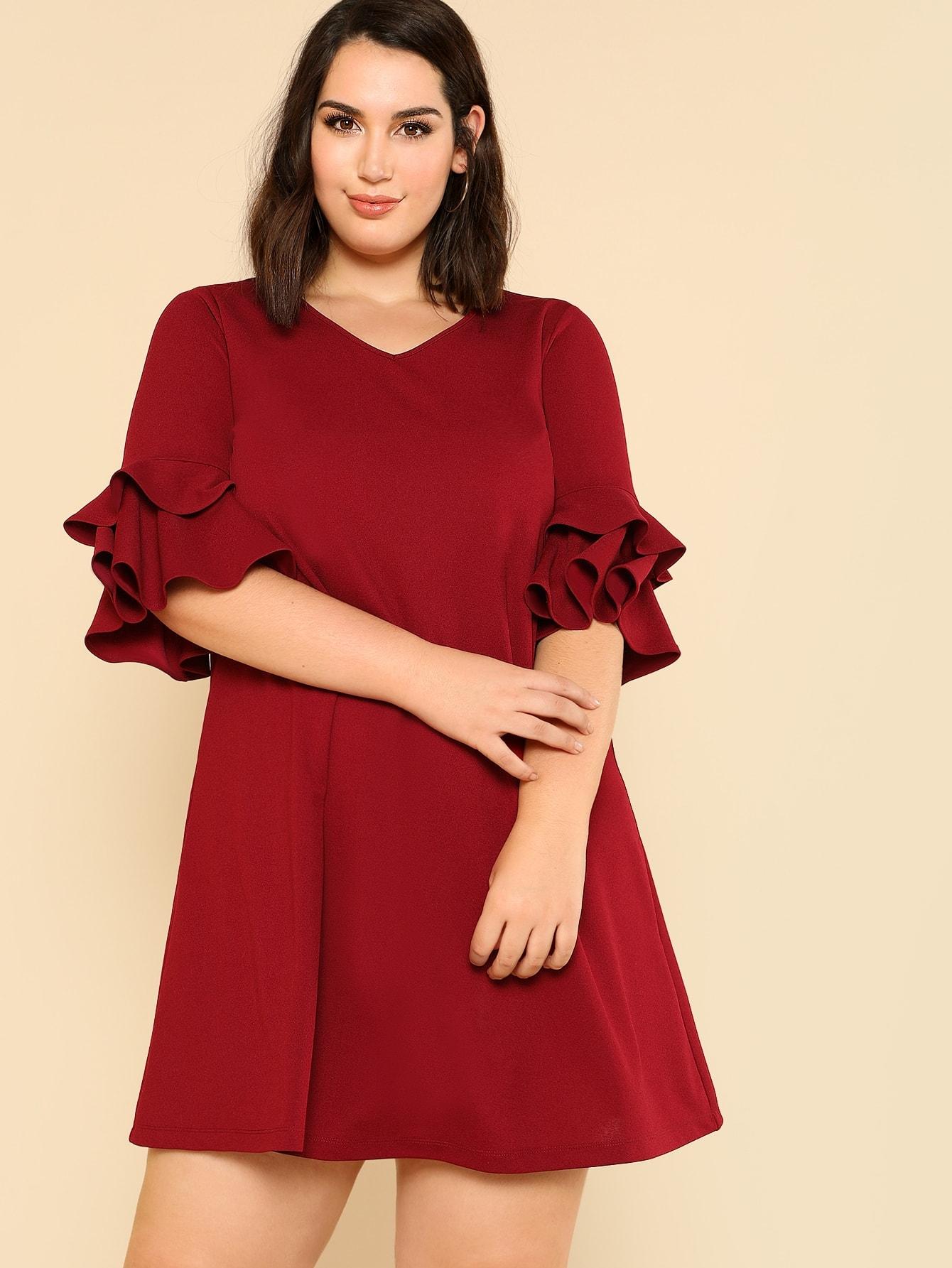 Купить Модное платье с оборкой, Jessica Lauren, SheIn