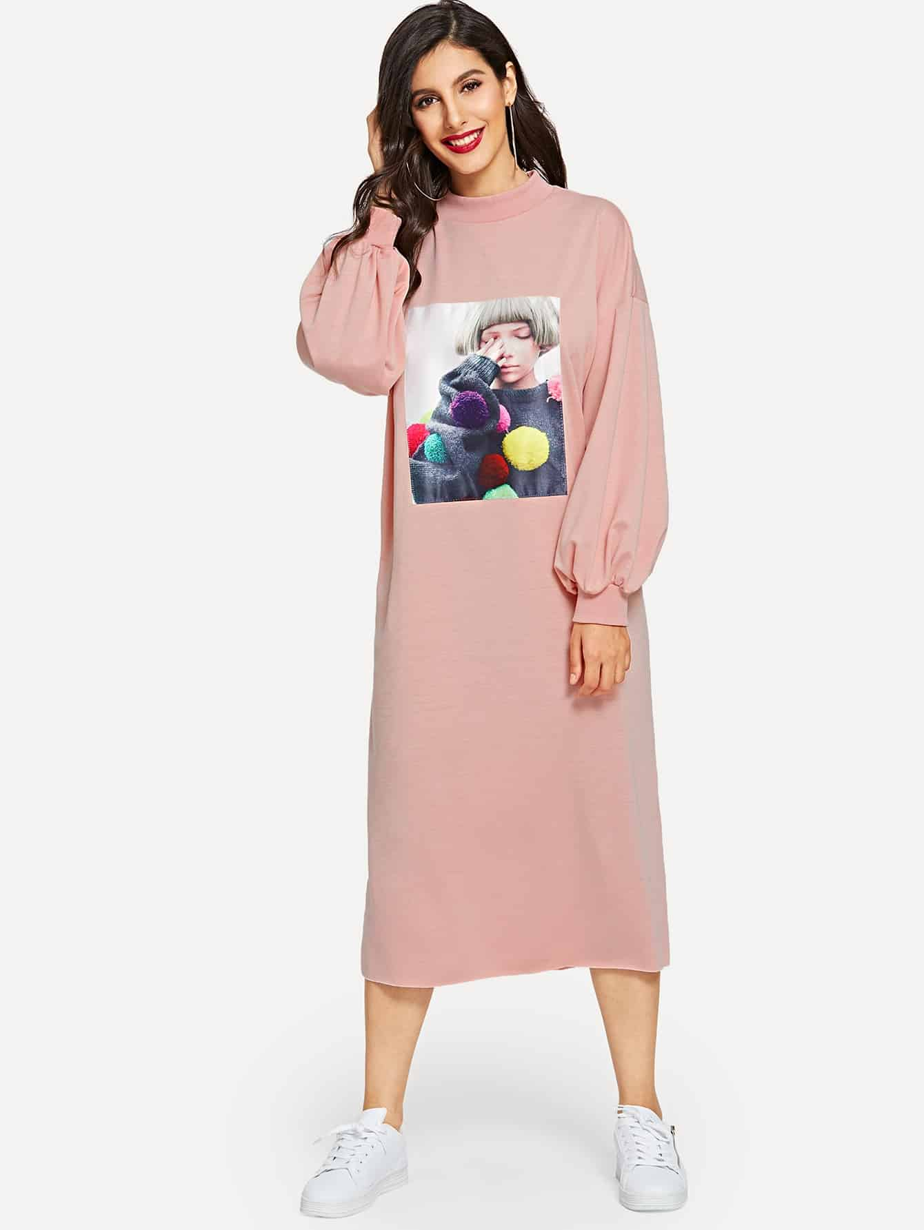 Купить Платье с графическим принтом, Jeane, SheIn