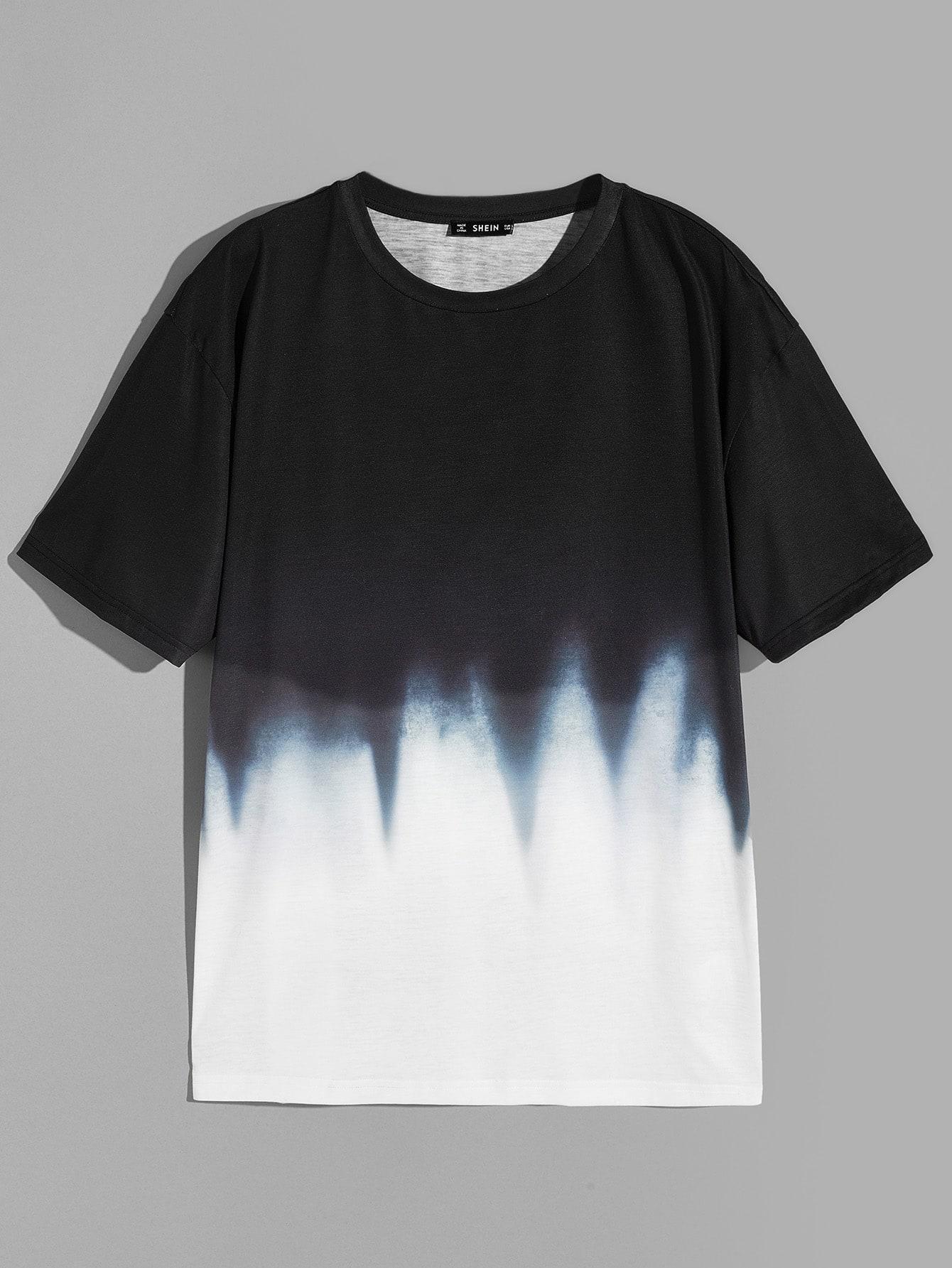 Купить Мужская футболка с коротким рукавом, null, SheIn