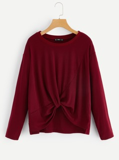 Twist Front Tunic Pullover