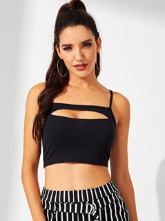 Open Front Crop Cami Top