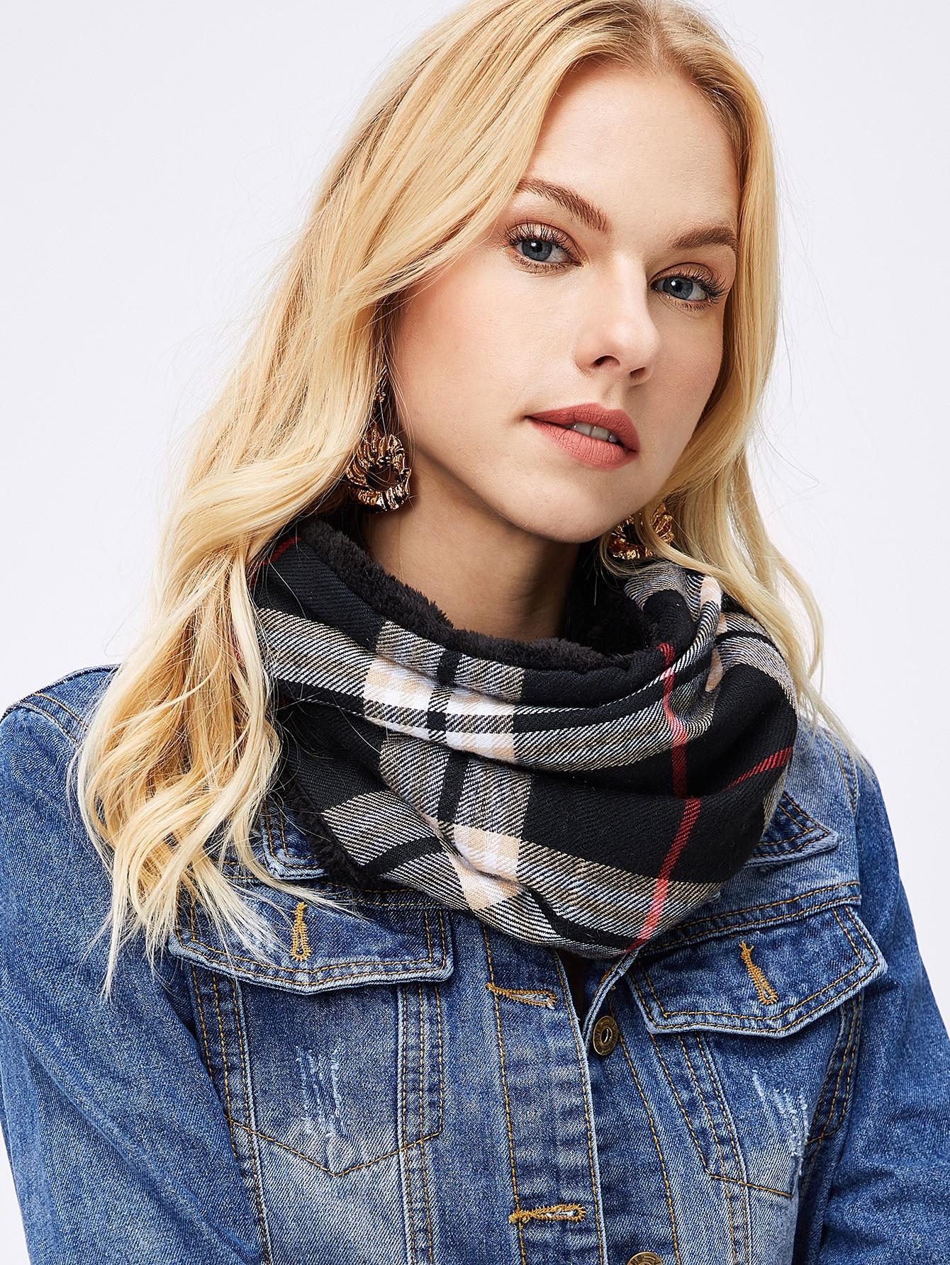 Купить Бесконечный простой шарф из искусственных мехов, null, SheIn