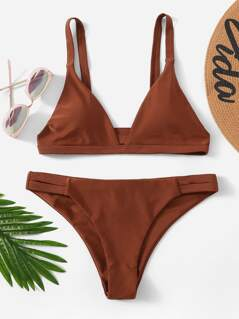 Ruched Detail Bikini Set