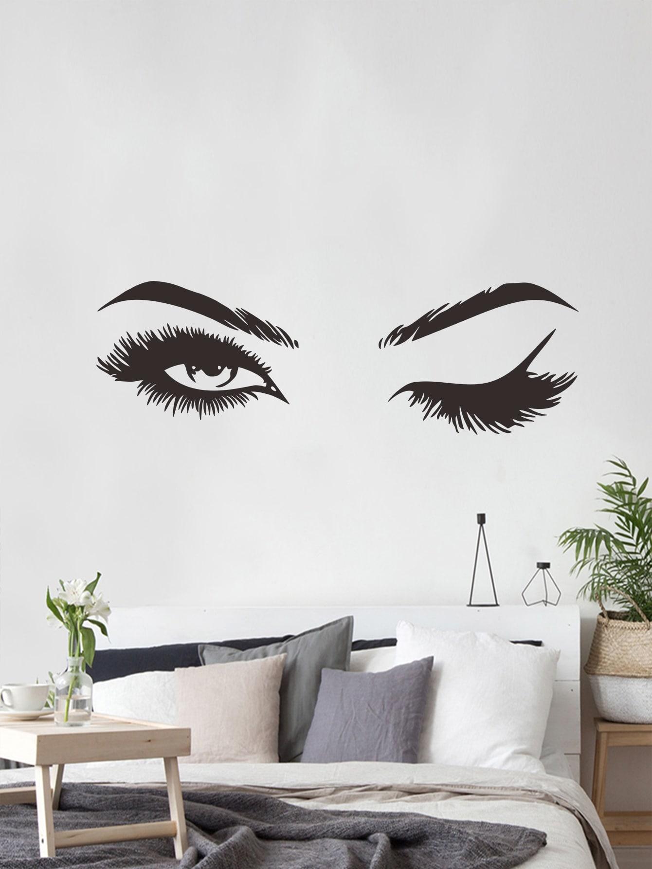Купить Наклейка на стену с принтом глаза, null, SheIn
