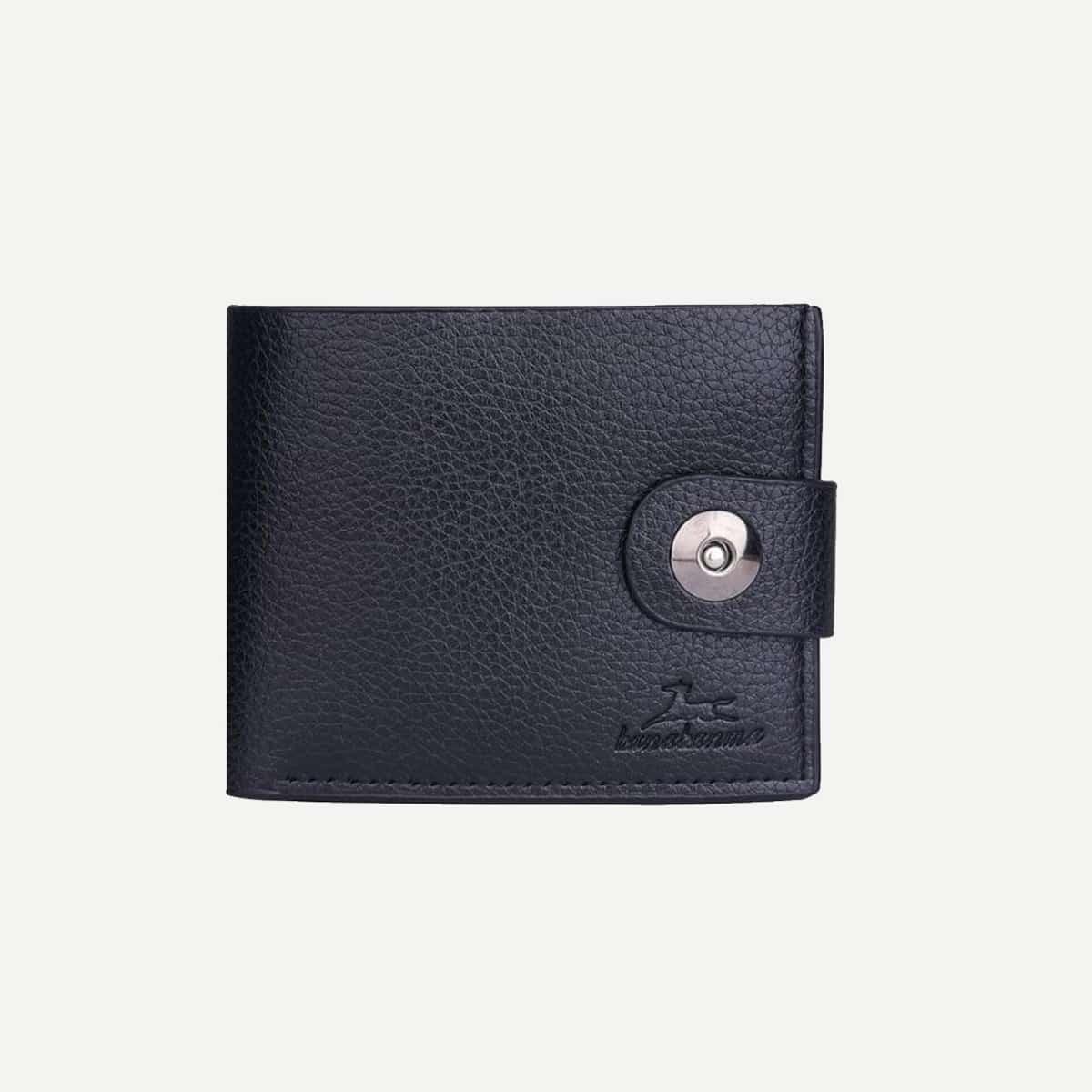 Мужской складный кошелек с металлической пуговицой от SHEIN