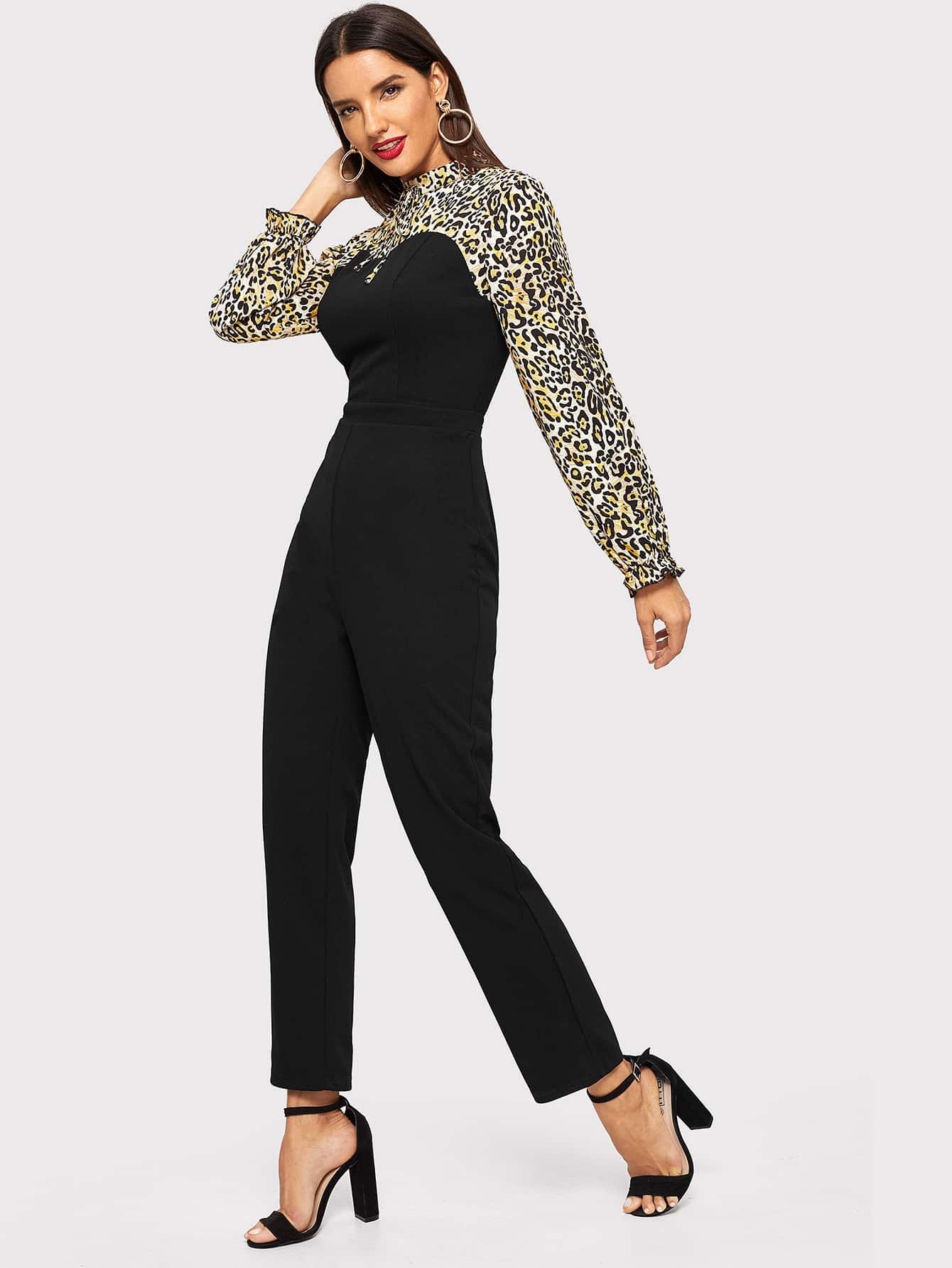 Купить Комбинезон с леопардовым принтом, Juliana, SheIn