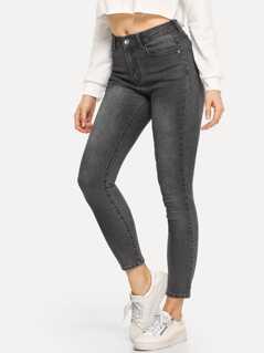 Bleach Dye Skinny Jeans