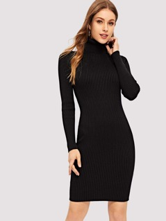 High Neck Form Fitting Dress