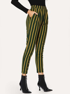 Slant Pocket Striped Pants