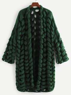 Hollow Out Chunky Knit Cardigan