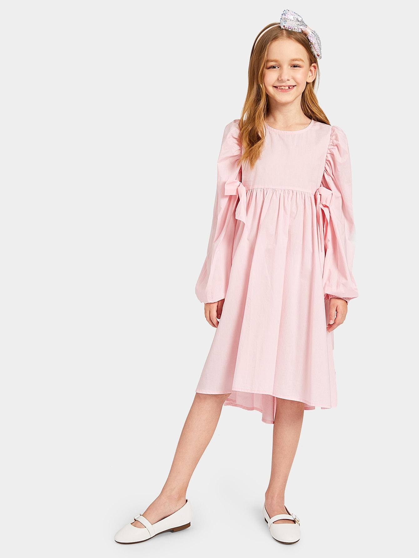 Купить Асимметричное платье с оригинальным рукавом для девочек, Dariab, SheIn