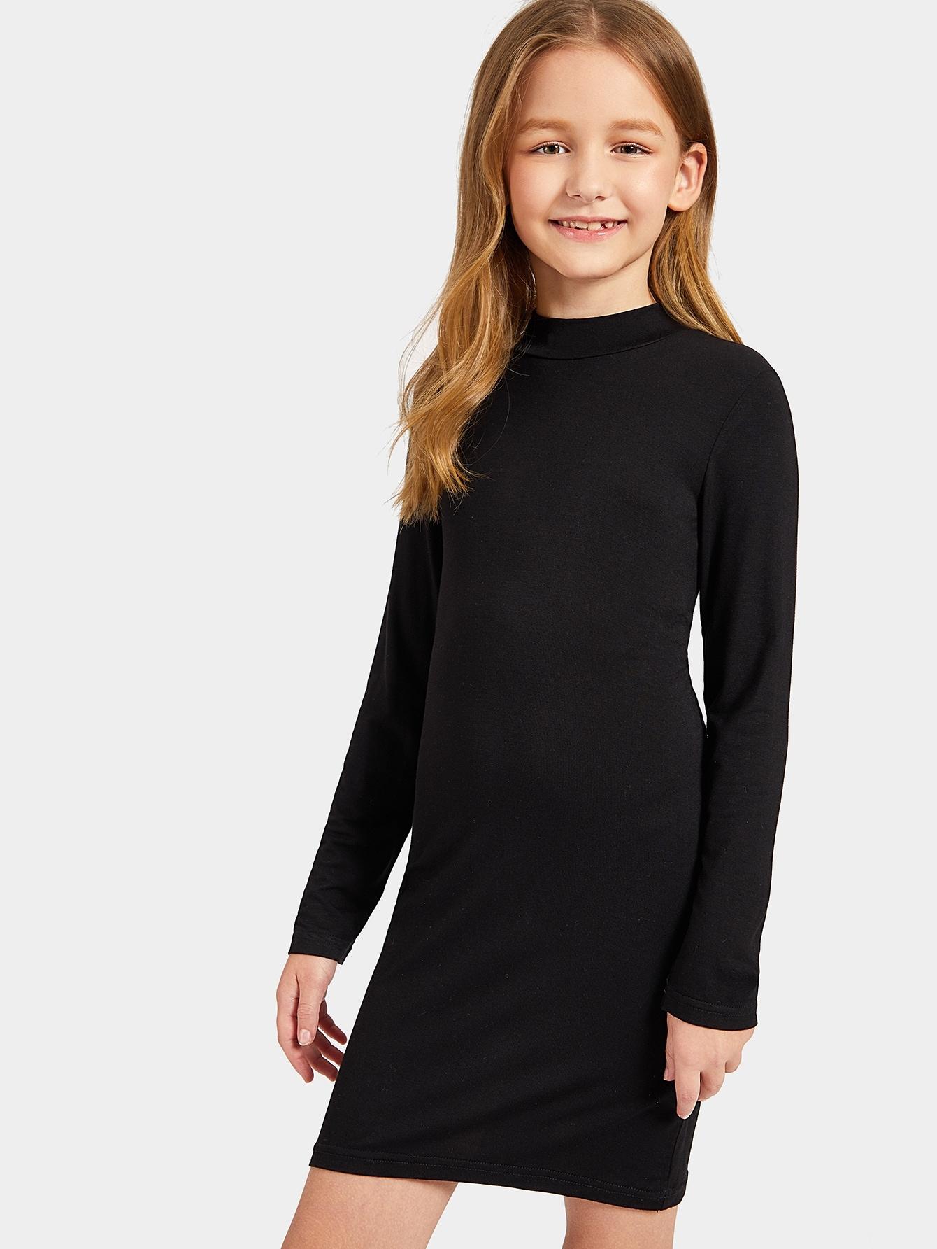 Купить Облегающее платье со стоячим вырезом для девочек, Dariab, SheIn