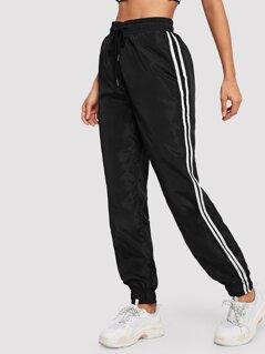 Stripe Side Drawstring Sweatpants