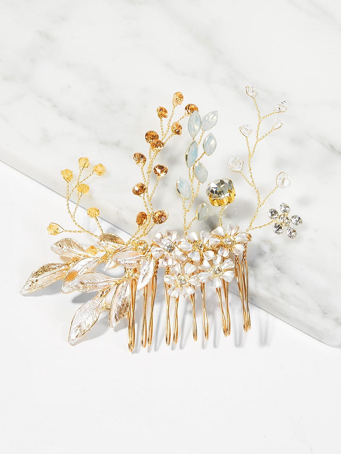 Купить Цветочная свадебная расческа для волос, null, SheIn