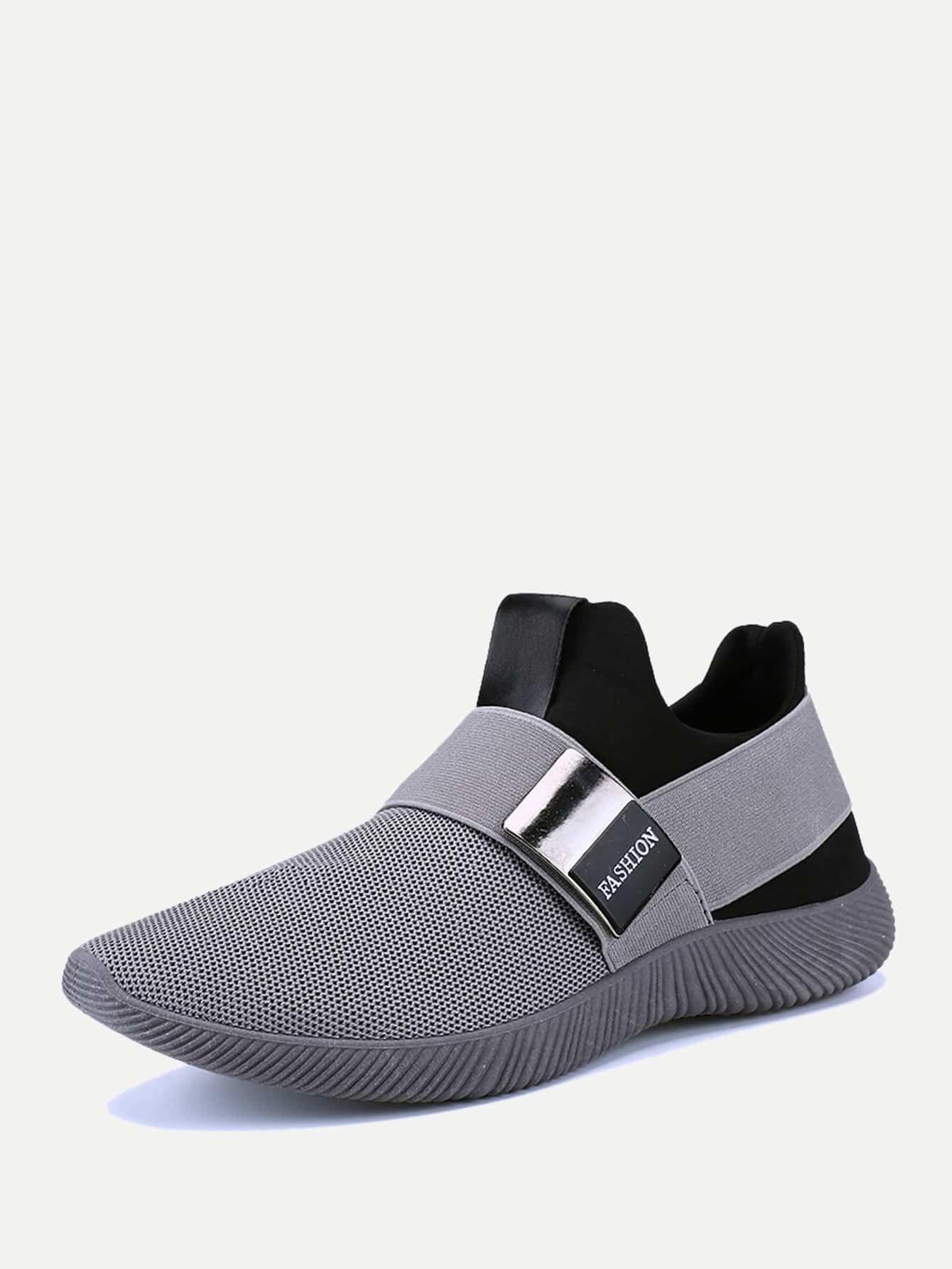 Купить Мужские противоскользящие сетчатые кроссовки, null, SheIn