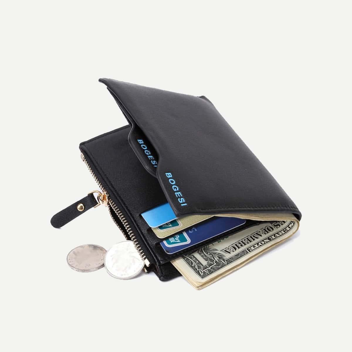 Мужской складной кожный кошелёк от SHEIN