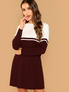 Color-block Tunic Dress