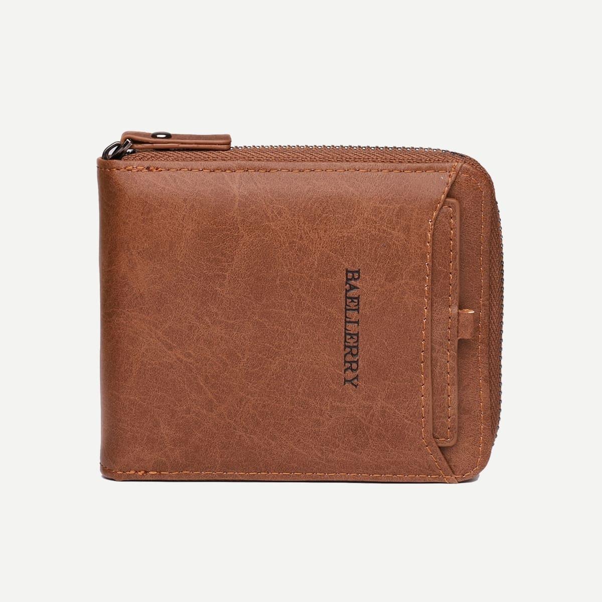 Мужской однотонный кошелёк с молнией от SHEIN