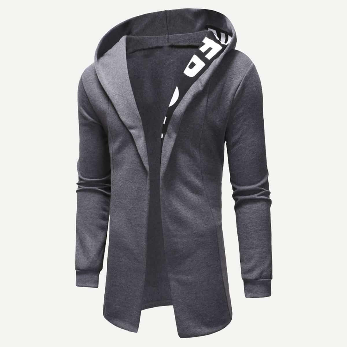 Grijs Casual Tekst Sweatshirts voor heren